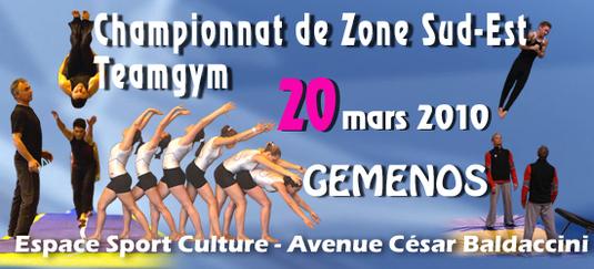 Championnat de Zone Sud-Est Teamgym -Gemenos-  Les résultats