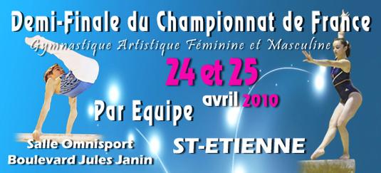Compétition Zone Sud-Est GAM GAF par équipes - St Etienne - 24/25 Avril - Résultats