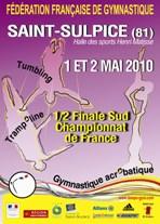 1/2 Finale Sud Tumbling, trampoline, gym acrobatique à Saint-Sulpice
