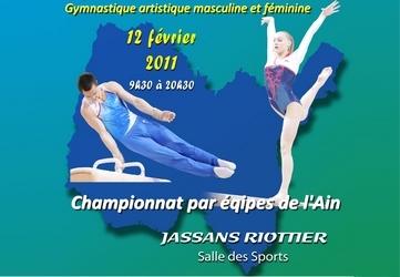 Championnat Départemental Par Equipe GAF/GAM à Jassans  le 12 février - Les résultats