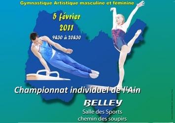 Championnat Départemental Individuels à Belley le 05 Février 2011 Les résultats