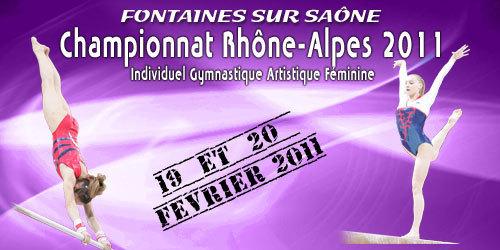 Gymnastique artistique féminine - Championnat Régional Individuel - Fontaine /saône - 19/20 Février 2011- Les résultats