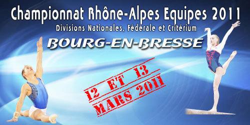 Championnat Régional Equipe GAF GAM - 12/13 Mars - Bourg en Bresse - Les résultats