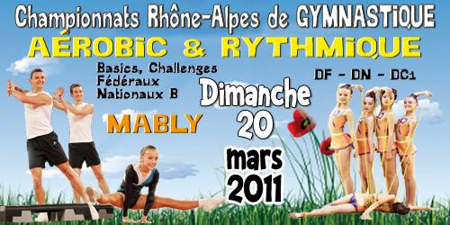 Championnat Régional Aérobic-GR le dimanche 20 mars à Roanne