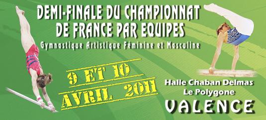 Compétition Zone Sud-Est GAM GAF par équipes à Valence les 09 et 10 avril