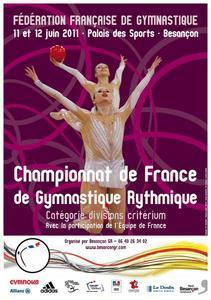 Championnat de France DC GR Besançon les 11 et 12 juin