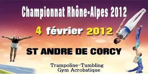 Sélective régionale Trampoline  Tumbling GAc le 04 Février à Saint André de Corcy