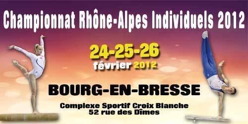 Championnat régional individuel - 24/25/26 février 2012- Bourg en Bresse- Les résultats