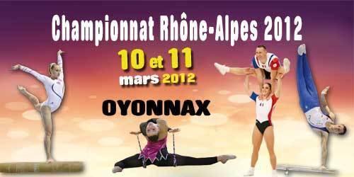 Championnat régional GA, GR, Aérobic - 10-11 mars 2012 Oyonnax- les résultats