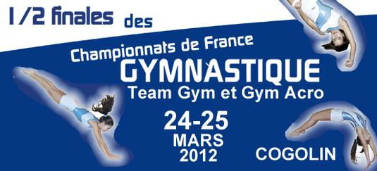 1/2 Finale Sud Teamgym et Gym Acro 24 et 25 Mars à Cogolin