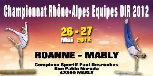 Championnat régional DIR Gymnastique artistique- ROANNE - 26/27 Mai - Les résultats