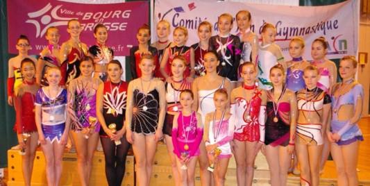 Championnat Départemental Individuel GR Samedi 27 Octobre à Bourg en Bresse - Les Résultats