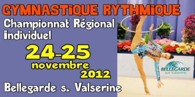 Championnat Régional Individuel GR 24 et 25 Novembre à Bellegarde: Les résultats, les photos