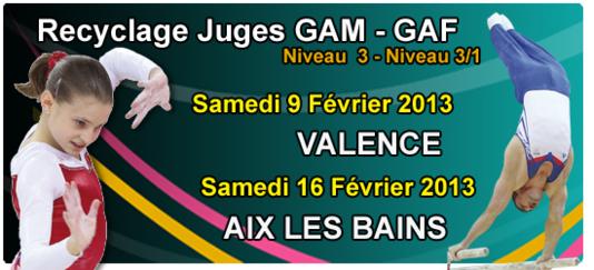 GAM/GAF - Recyclage Juge Niveau 3