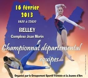 Championnat départemental éqipes Belley le 16 février 2013 - les résultats
