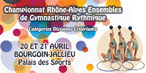 Championnat Régional DC GR - Bourgoin Jallieu - 20 et 21 Avril - Résultats