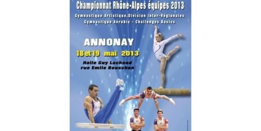 Championnat RA GAM/GAF DIR et Championnat RA Aérobic Basics ANNONAY 18 et 19 Mai 2013 - Les résultats