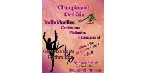 Championnat Départemental Individuel GR - Dimanche 20 Octobre - Bourg en Bresse - Les résultats