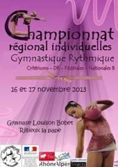 Championnat Régional Critérium - Fédéral - Nationale B GR - Rillieux la Pape - 16 et 17 Novembre - Résultats