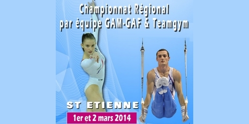 Championnat Régional Rhône Alpes Equipes GAM/GAF et Teamgym 01/02 Mars - Saint Etienne