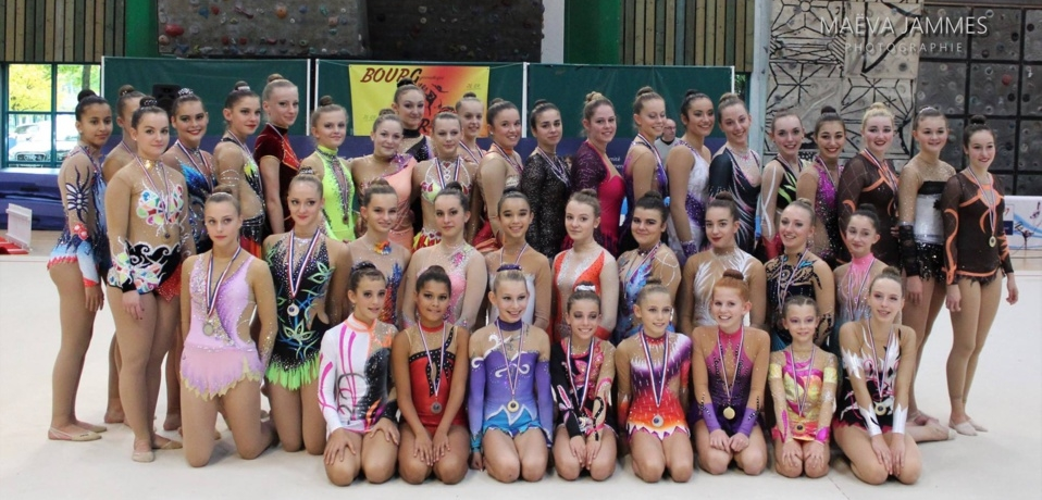 Championnat départemental des individuelles GR - Bourg en Bresse le 16 octobre - Résultats - Photos dans la galerie