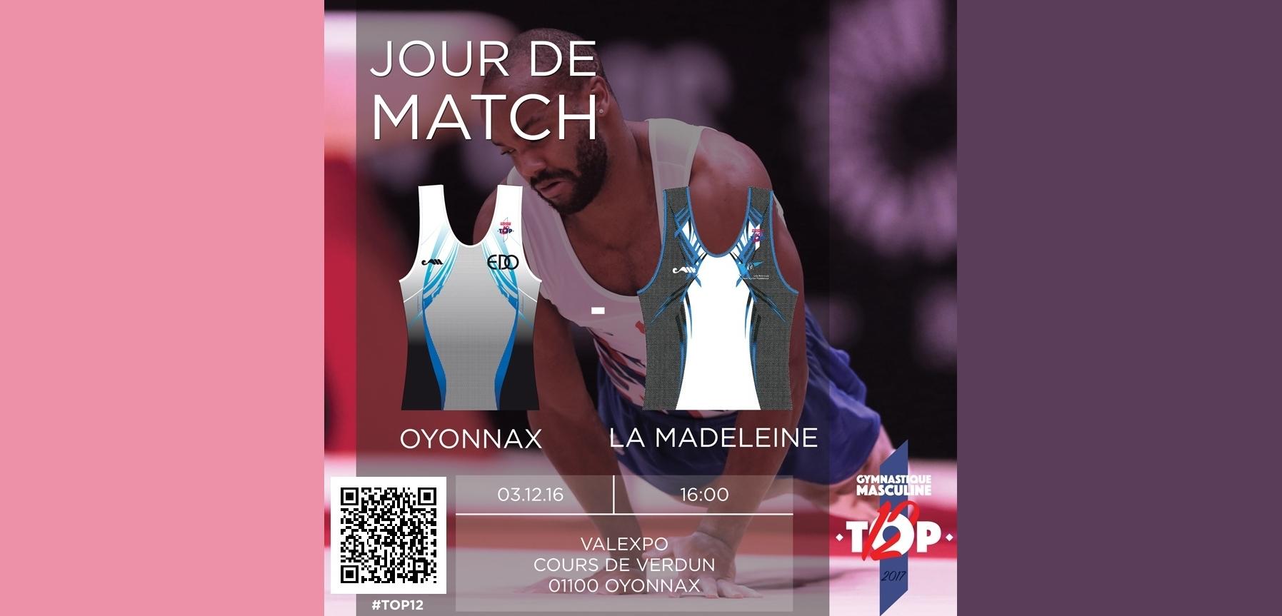 3 eme match TOP 12 pour Oyonnax