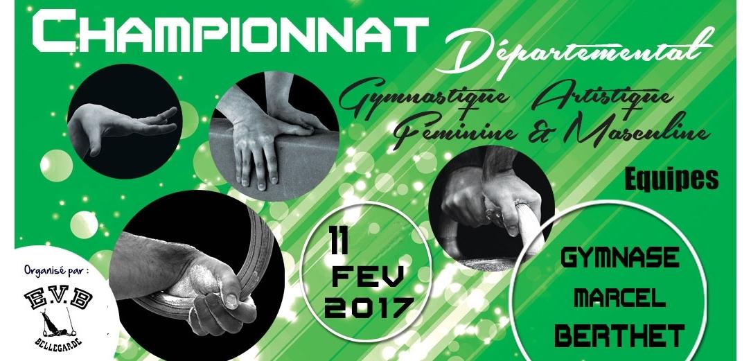 Championnat Départemental équipes GAF GAM le 11/02/2017 à Bellegarde - Résultats