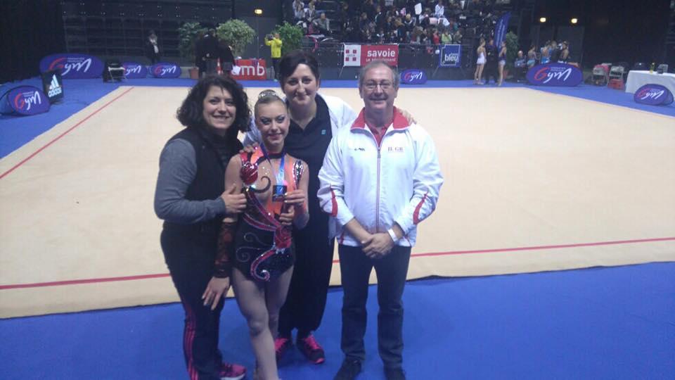 Championnat de France individuels GR à Chambéry : Marion Putigny en argent