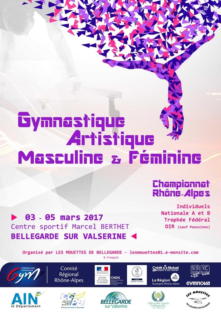 Championnat régional individuel GAF GAM à Bellegarde les 3-4-5 mars