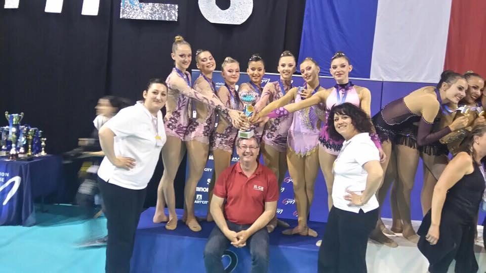 Championnat de France GR ensembles et équipes  à Nimes Résultat
