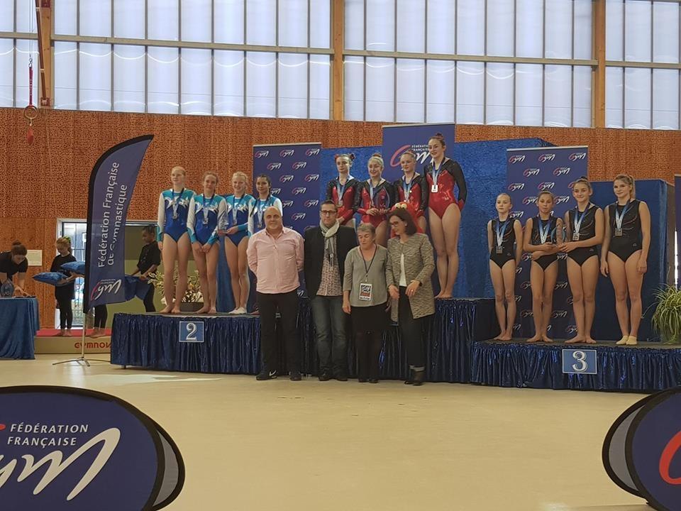 Thoiry vice champion en DN2 Tumbling féminines