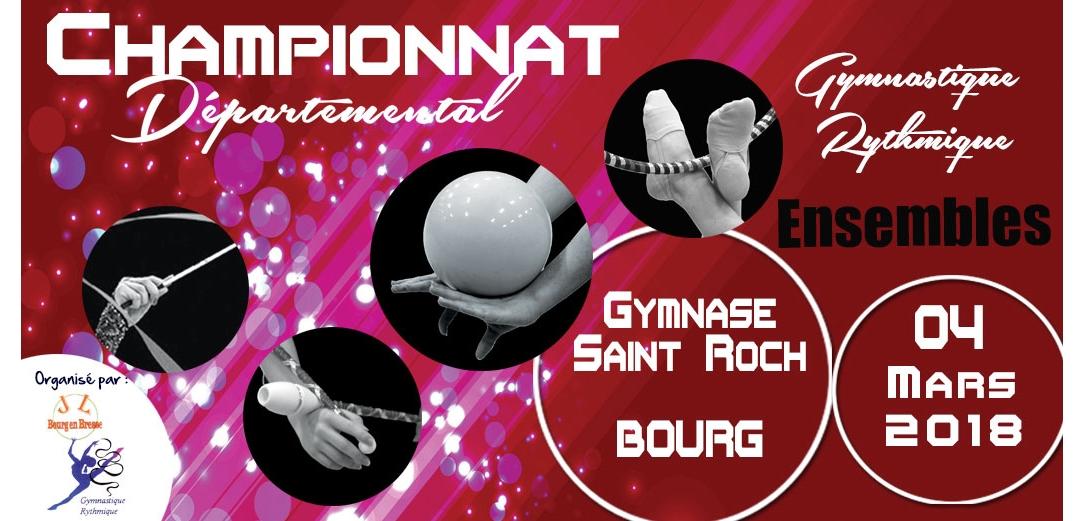 Championnat départemental ensembles GR à Bourg en Bresse Résultats
