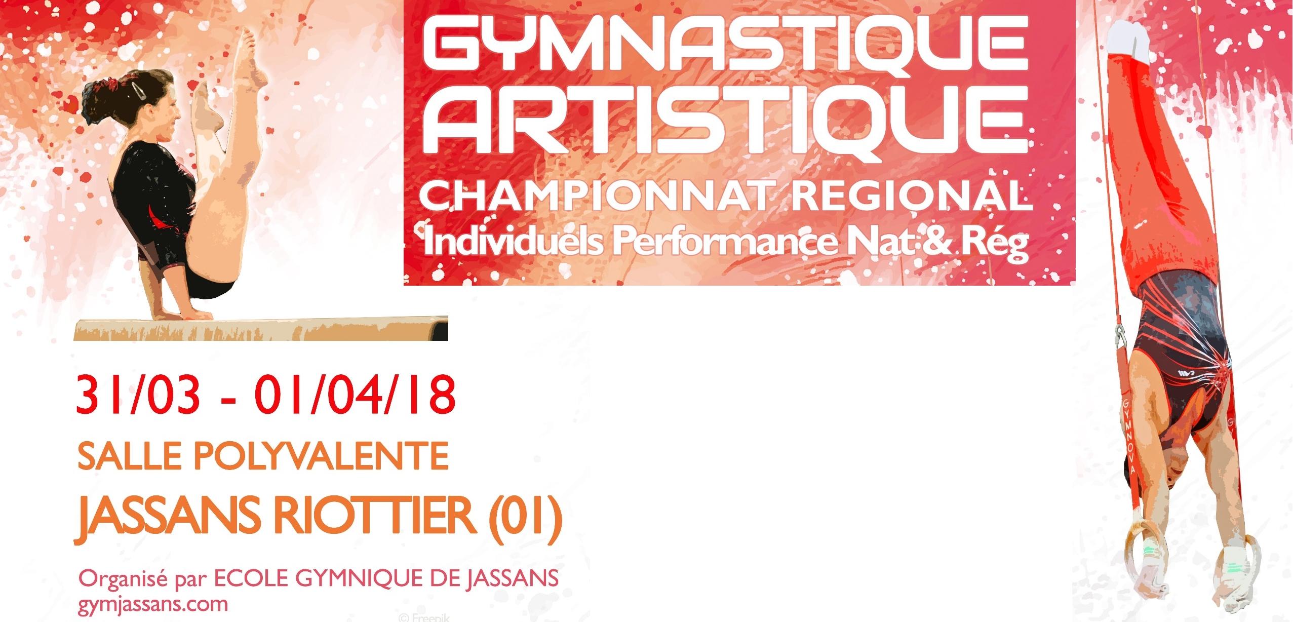 Championnat régional individuels Gym artistique à Jassans