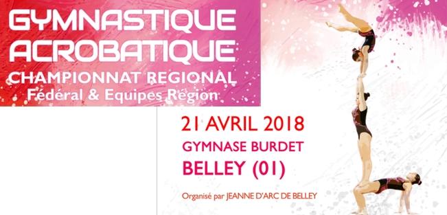 Championnat régional Gym Acrobatique à Belley