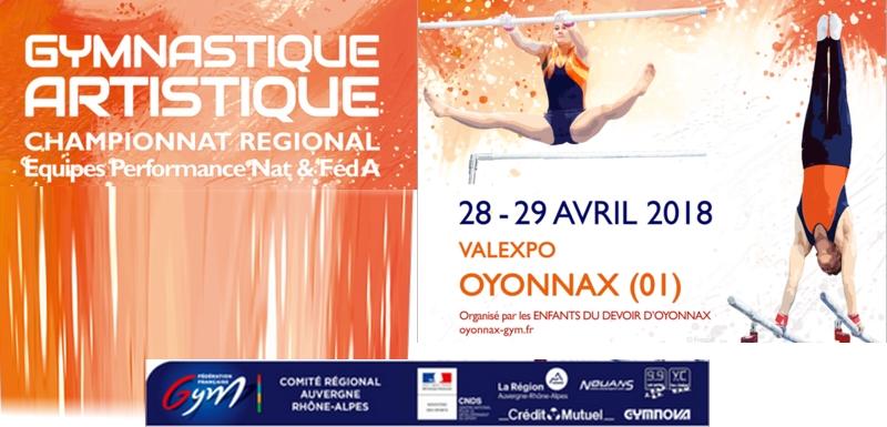 Championnat régional équipes Gym artistique à Oyonnax