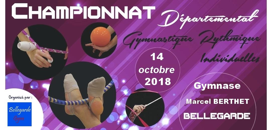 Championnat départemental GR individuel Bellegarde les résultats