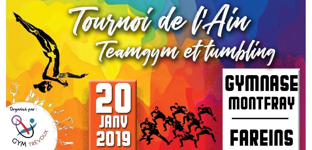 Tournoi Open AURAG Teamgym et tumbling à Fareins Résultats TUM