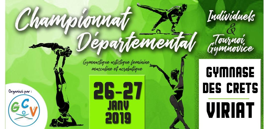 Championnat départemental individuel Gym Artistique et Gymnovice à Viriat  Résultats
