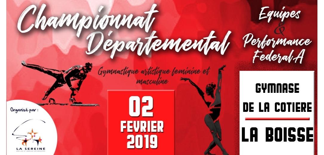 Championnat départemental équipes Gym Artistique à Montluel MA 11/01