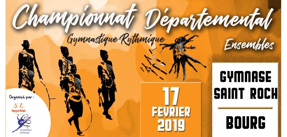 Championnat départemental des ensembles GR à Bourg en Bresse Résultats