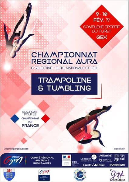 Championnat régional AURA en trampoline et tumbling à Gex