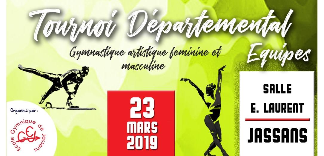 Tournoi departemental 1 GAM GAF à Jassans le 23 mars: Les résultats