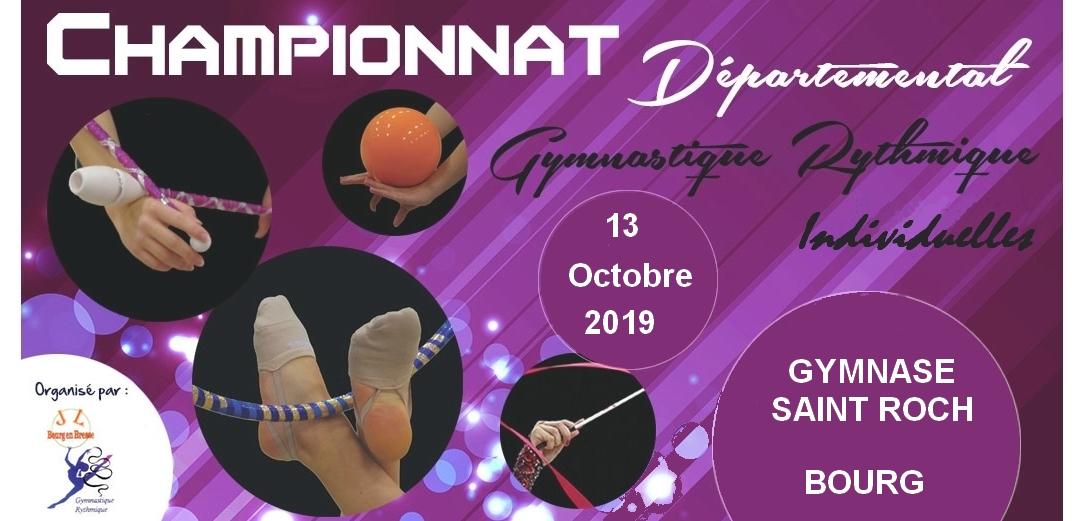 Championnat départemental individuels GR le 13 octobre à Bourg en Bresse Résultats