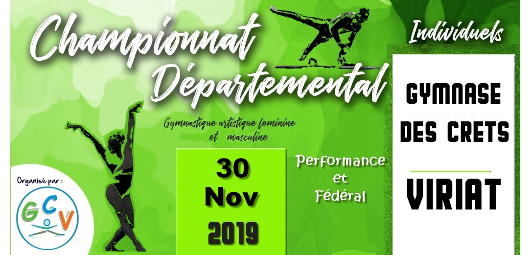 Championnat départemental individuels GAM GAF à Viriat les résultats