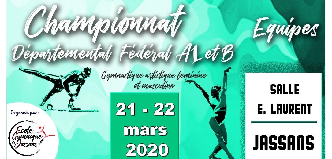 ANNULATION de la compétition GAF GAM Fed A1 et B à Jassans
