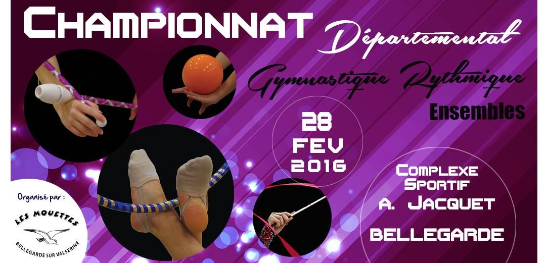 Championnat départemental des ensembles GR à Bellegarde les résultats