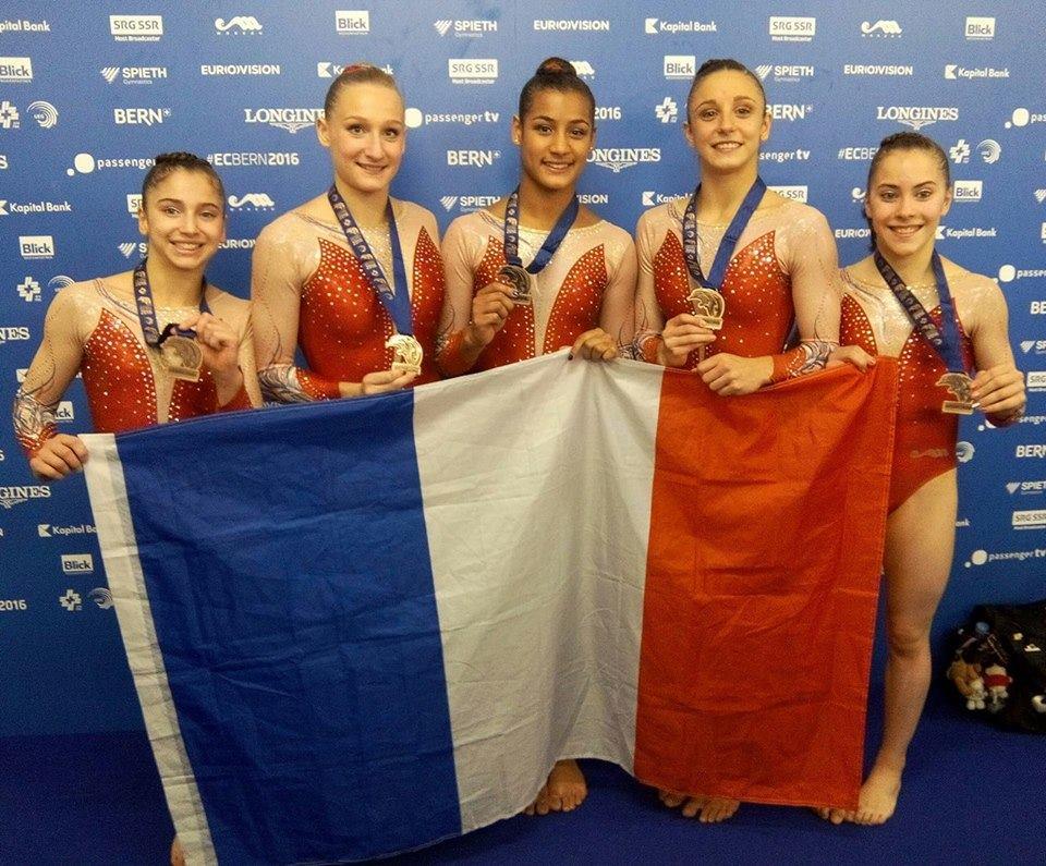 L'équipe de France en GAF médaille de bronze aux championnat d'Europe !